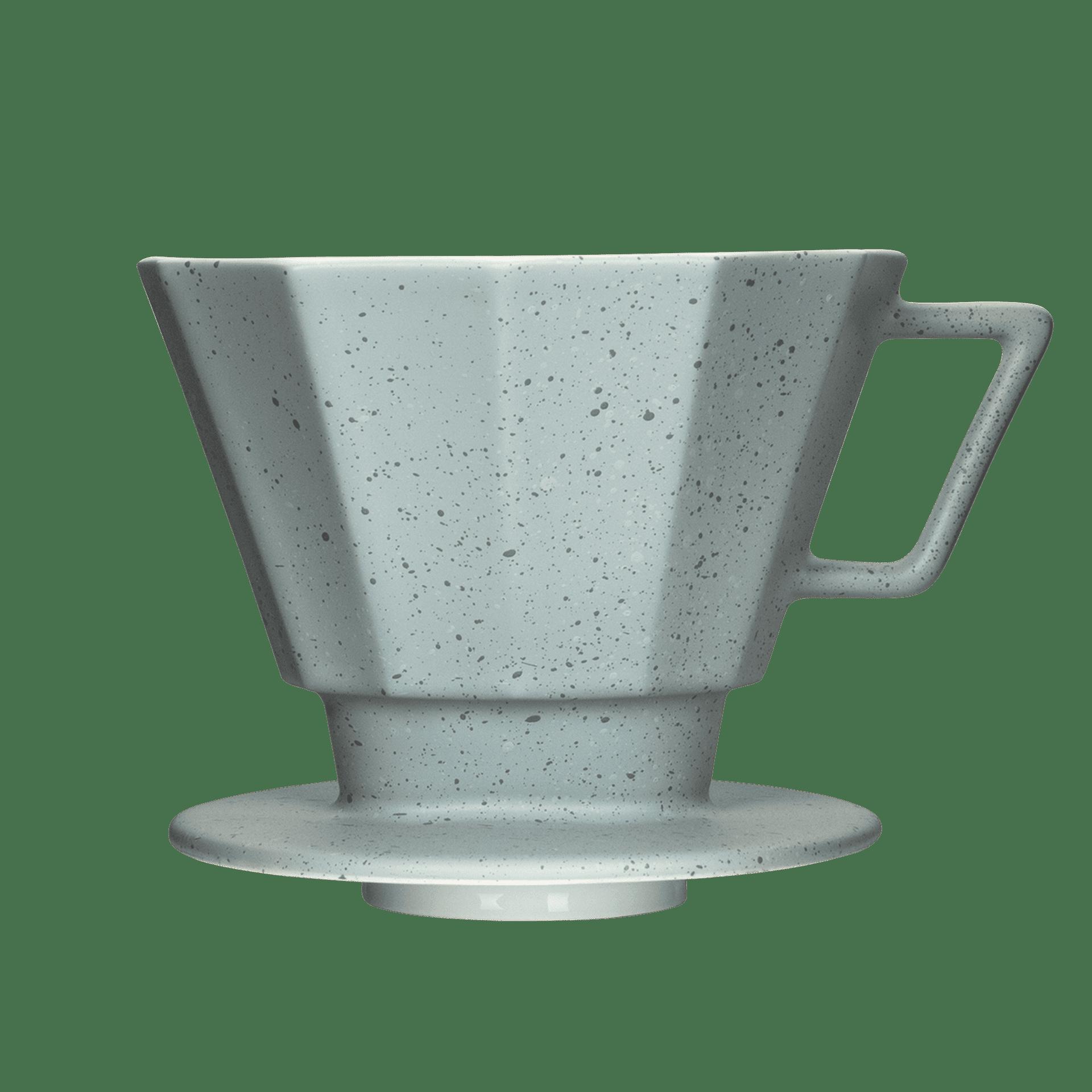 Porzellan Kaffeefilter, Stonewash Grey, Größe 4