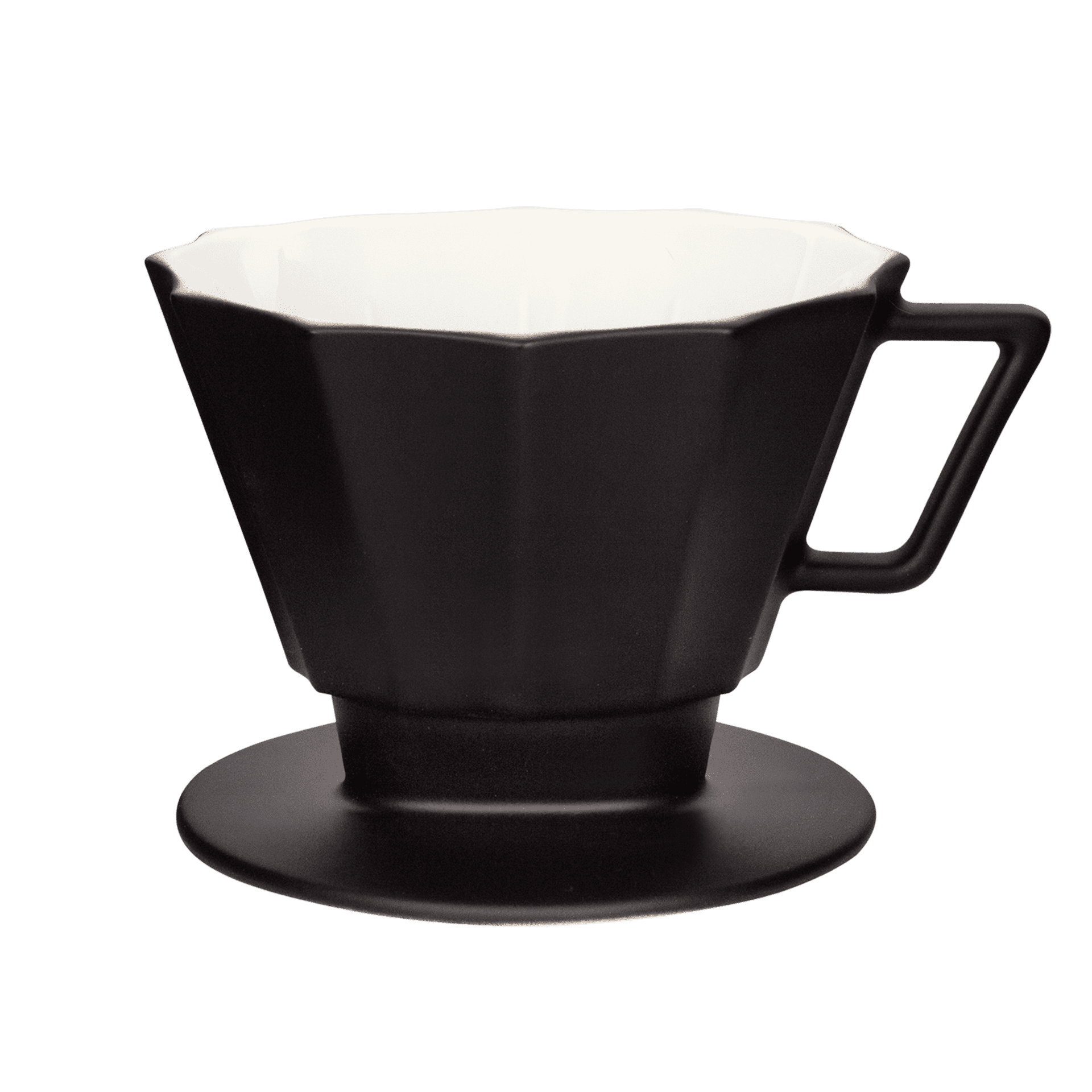 hochwertiger schwarzer kaffeefilter in matt-optik  groesse 4 1x4