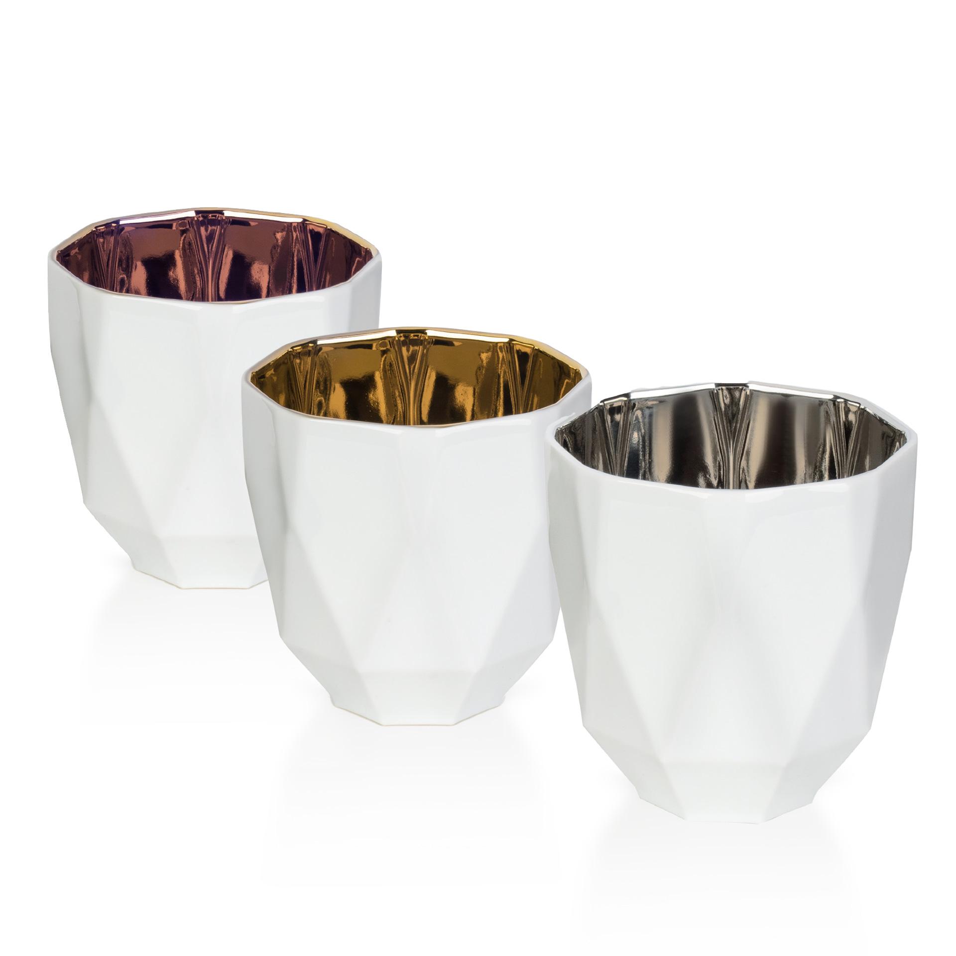 Aussergewöhnliche Tischlichter Weiß, Gold, Silber und Bronze - Mahlwerck Shop