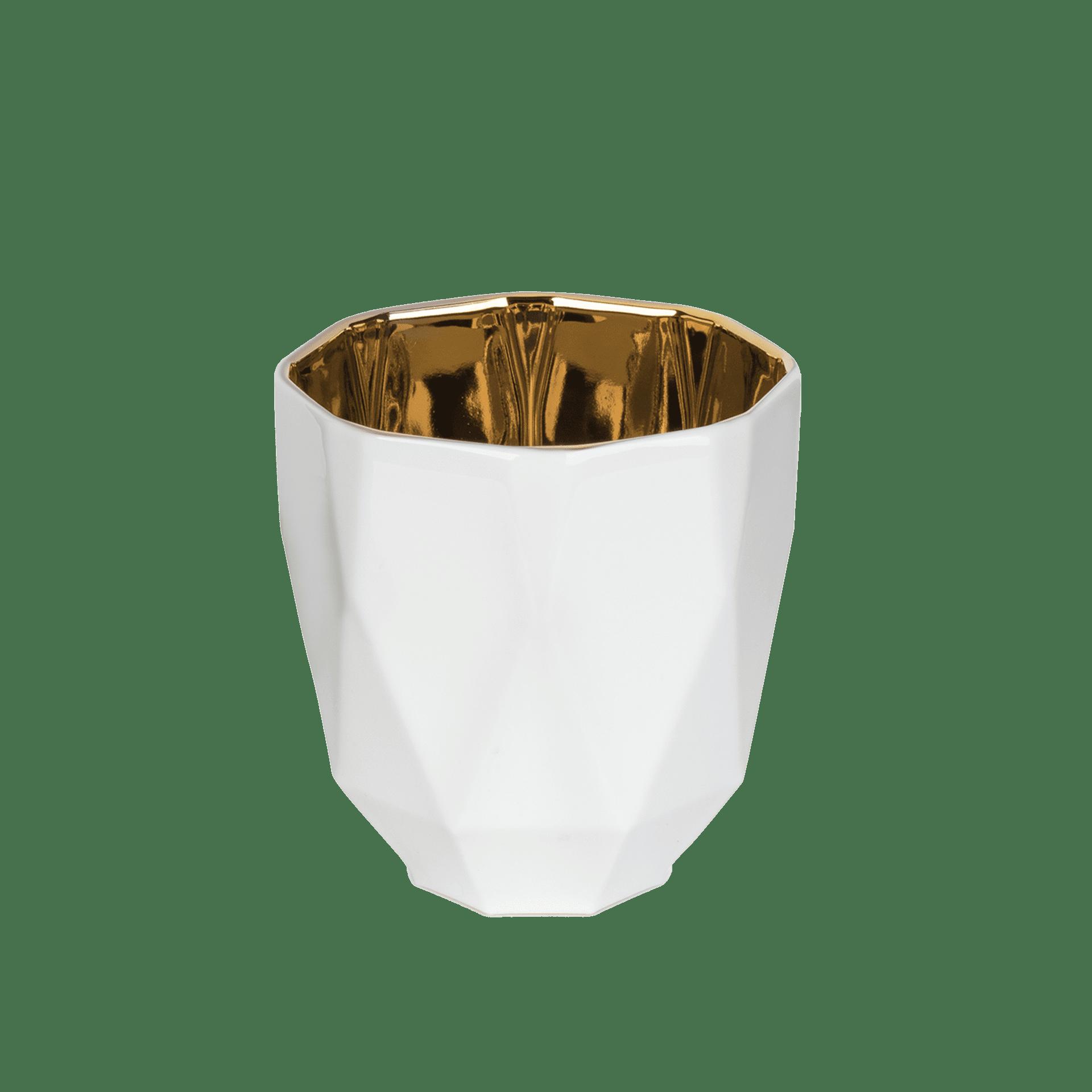 Porzellan Windlicht mit Gold