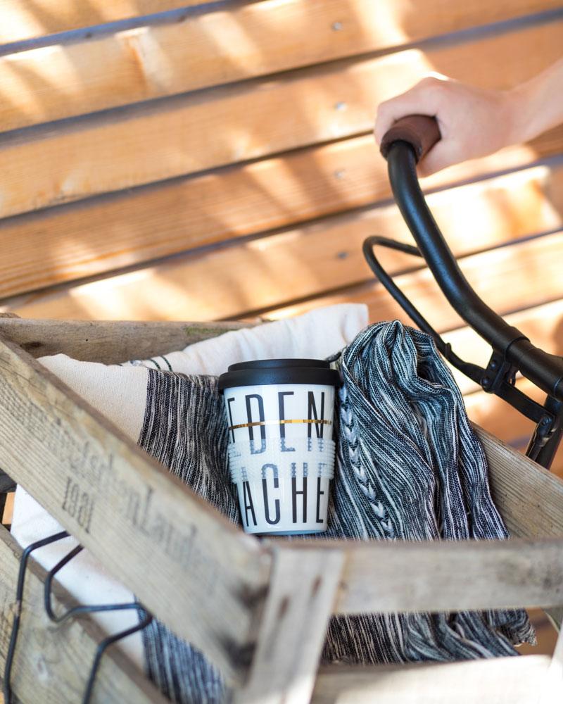 Coffee to go Mehrwegbecher mit Typo bedrucken - Mahlwerck Porzellan Shop