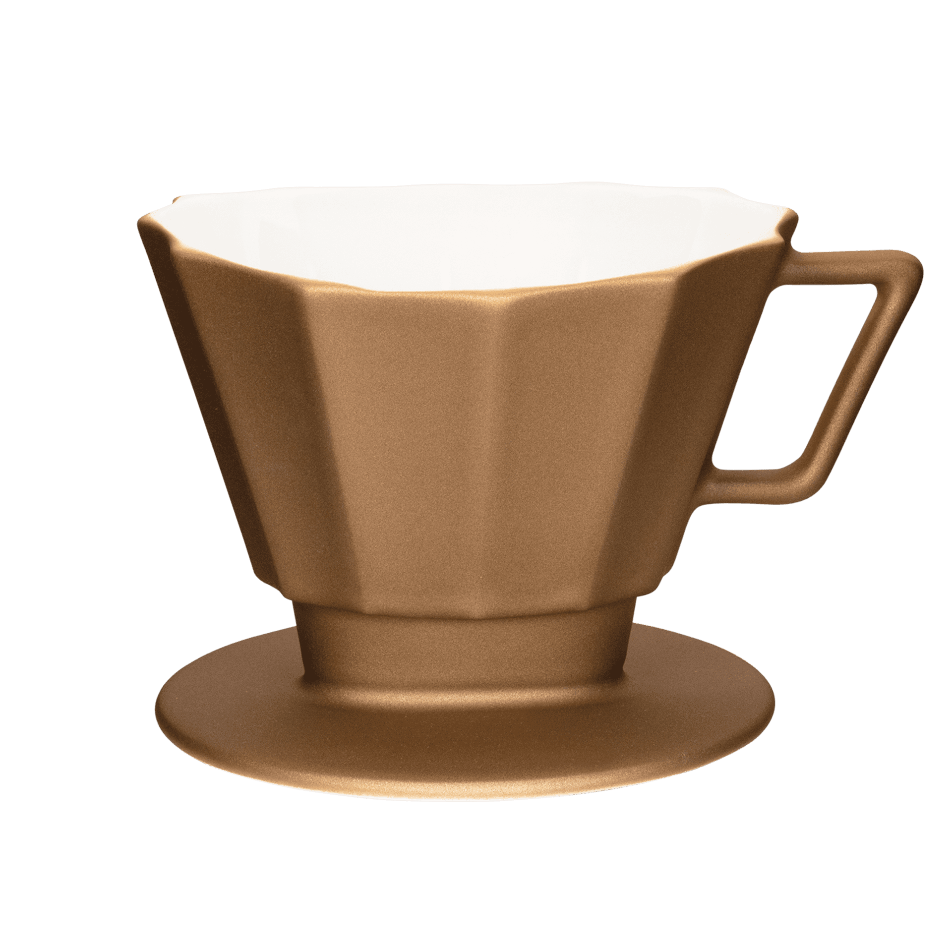 kupferfarbener kaffee-filter mit moderner form groesse 4 1x4
