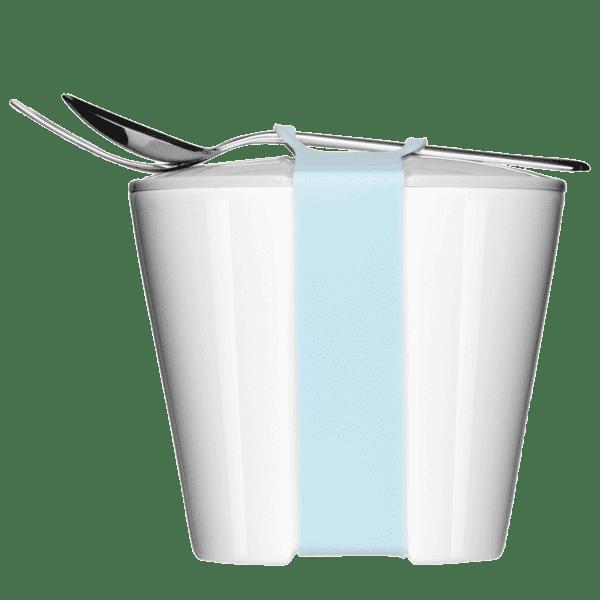 Snack2Go ist die Lunchbox aus Porzellan zum Essen aufbewahren