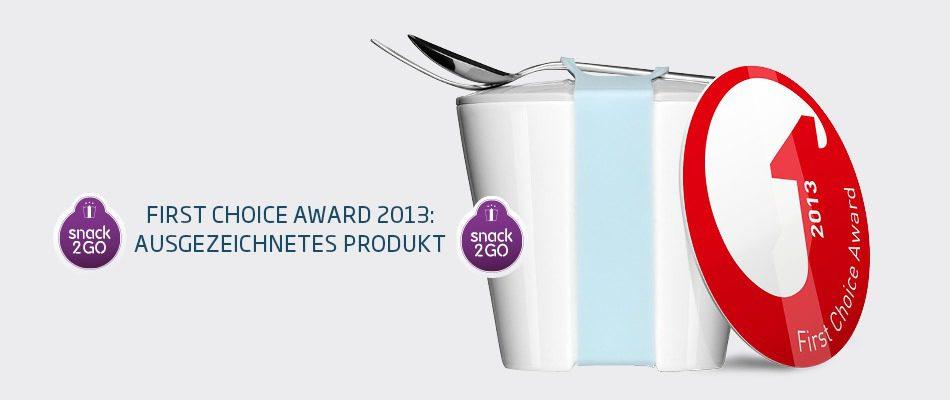 Lunchbox mit Deckel gewinnt First Choice Award – Snack2Go