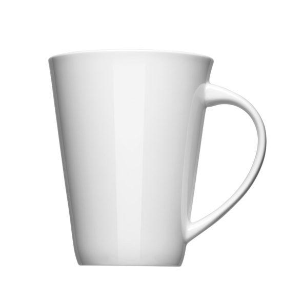 Kaffeetasse mit großer Werbefläche für Logos - Mahlwerck Porzellan