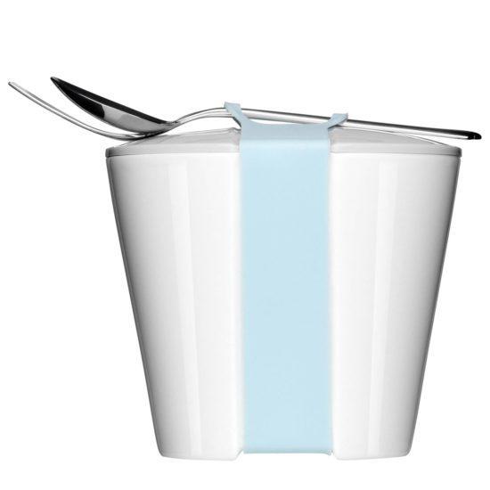 Snackschale mit Deckel to Go zum Bedrucken - Mahlwerck Porzellan