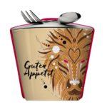 Cooler Werbeartikel für Snacks und Müsli unterwegs mit Deckel - Snack2Go
