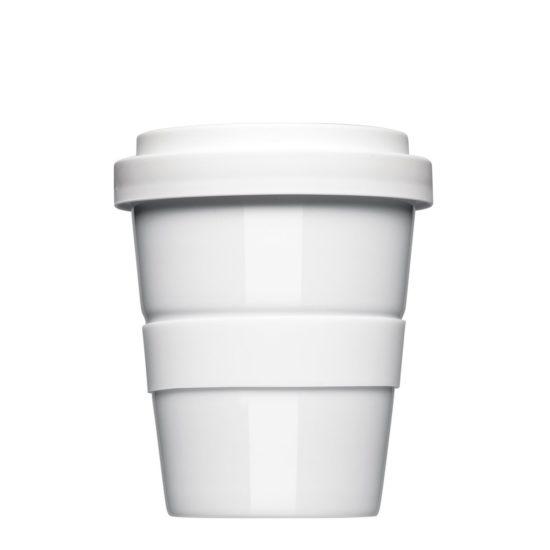 Coffee to Go Mehrweg Becher zum Bedrucken aus Porzellan - Mahlwerck Coffee2Go