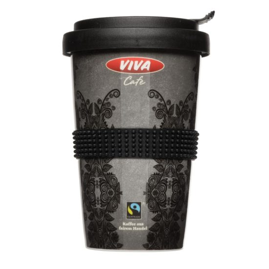 Nachhaltiger Coffee to Go Becher vollflächig bedruckt - Mahlwerck Porzellan