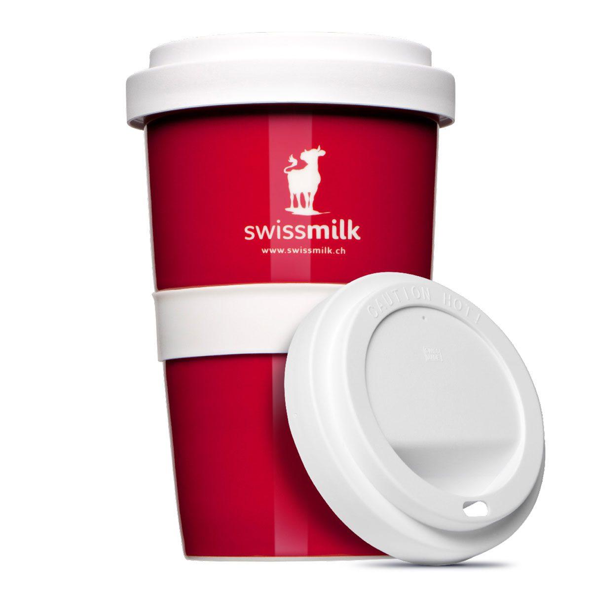 Kaffeetasse mit Deckel für unterwegs mit Logo bedruckt - Mahlwerck Porzellan
