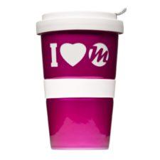 Coffee to Go mit Logo-Gravur und Metallic Glasur - Mahlwerck Porzellan