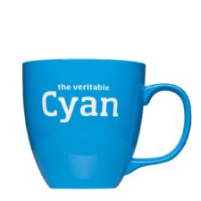 Promotional mug in Pantone color with logo engraving - Mahlwerck porcelain