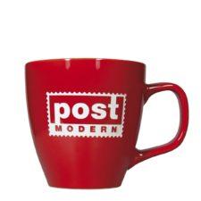Rote Tasse mit Logo Gravur - Mahlwerck Porzellan