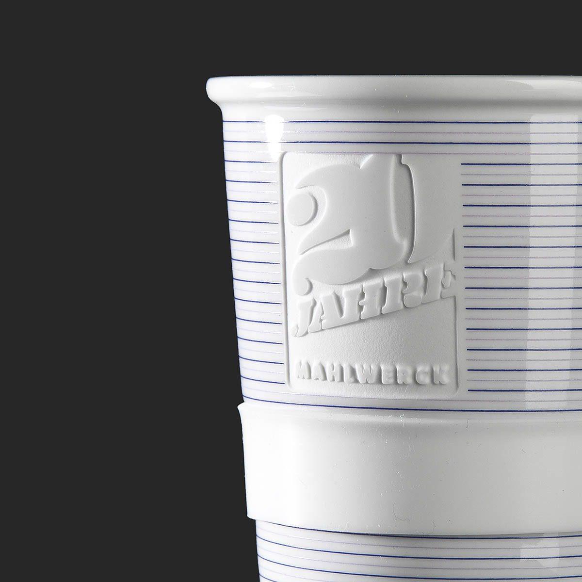 Anniversary mug with logo engraving - Mahlwerck Porzellan