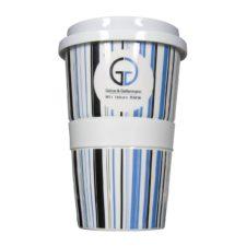 Coffee to Go mit Logo druck und Muster - Mahlwerck Porzellan
