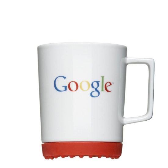 Einfacher Logodruck auf Tasse mit Softpad in CI Farben - Mahlwerck Porzellan