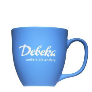 Debeka-Tasse mit Velvety und Gravur