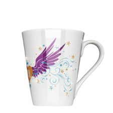 Auffällige Tasse mit Swarovski Crystallized - Mahlwerck Porzellan