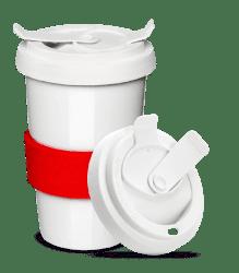 Teebecher to Go - Tee für unterwegs von Mahlwerck Porzellan