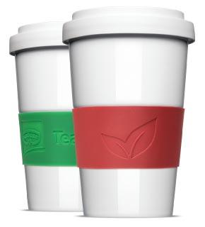 Banderole mit Prägung für Coffee to Go