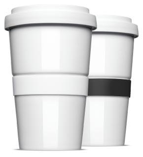 Coffee to Go mit Standard Banderole