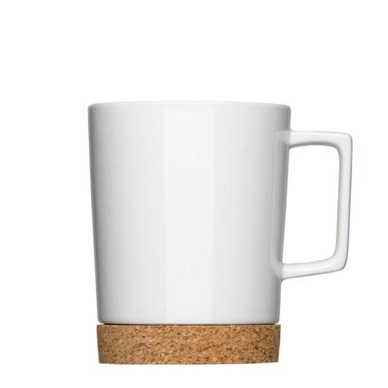 Tasse mit Kork für nachhaltiges Image zum Bedrucken - Mahlwerck Porzellan