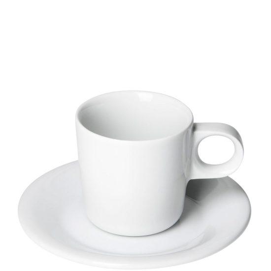 Kaffeetasse zum bedrucken lassen mit Unterteller - Mahlwerck Porzellan Gasto