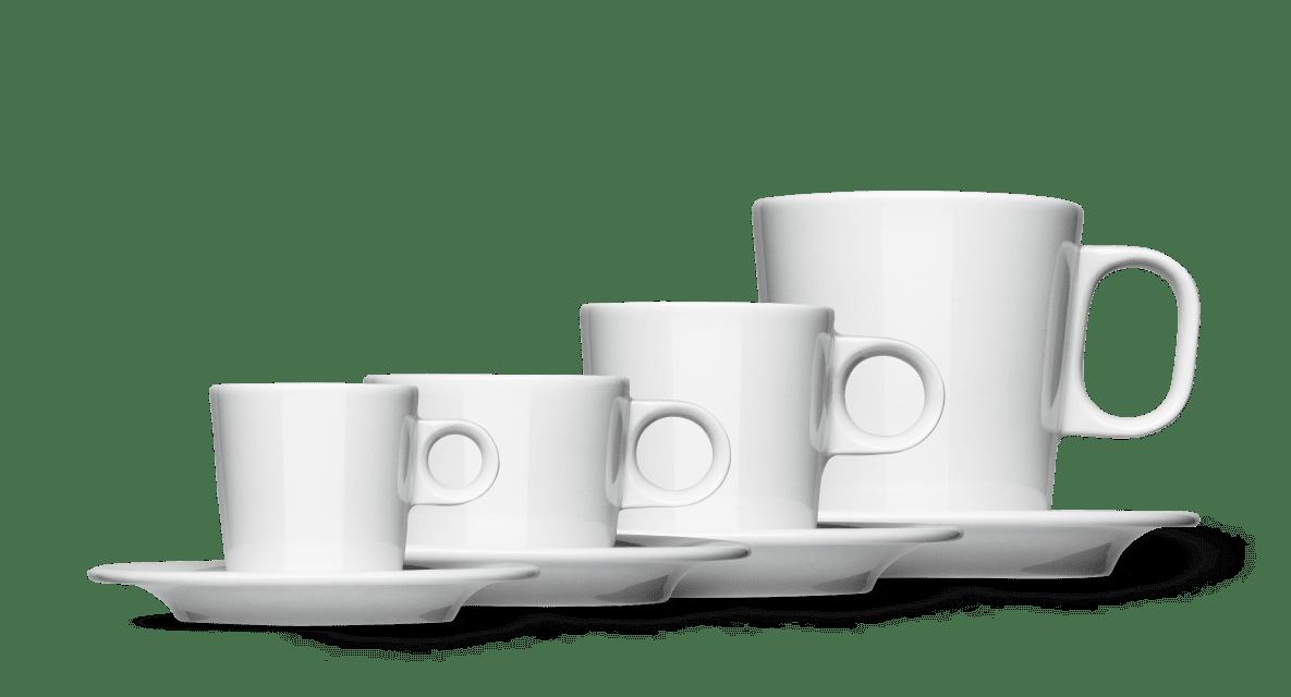 Espressotasse,Kaffeetasse, Cappuccinotasse aus der Joonas Serie von Mahlwerck Porzellan