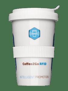 Coffee-to-Go-Becher mit RFID Speicherchip