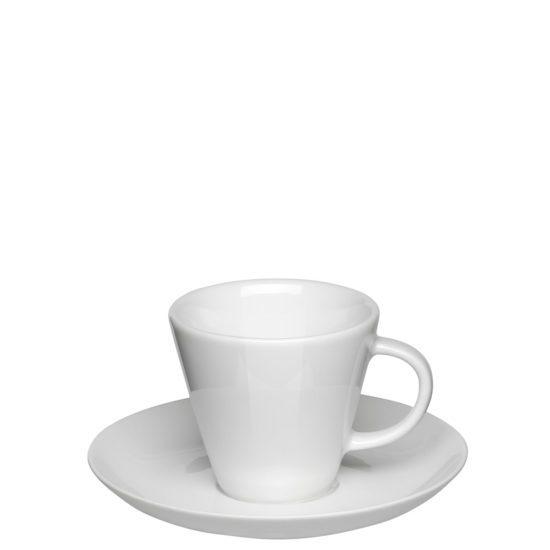 Espressotasse Doppio für die Gastronomie mit Untertasse von Mahlwerck Porzellan