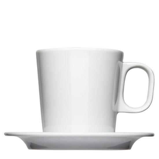 Milchkaffee Tasse groß zum Bedrucken mit Unterteller - Form 204