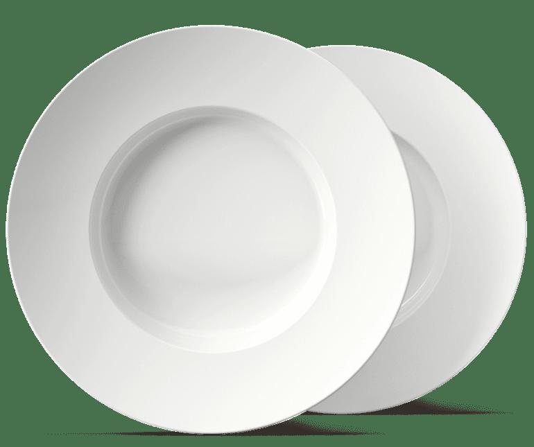 Der schiefe Excentra Teller, perfekt zum Bedrucken oder Gravieren für Ihre Gastronomie