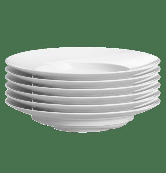 Stapelbar und somit perfekt für die Gastronomie, der Excentra Teller