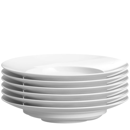 Special soup plate for gastonomy for stacking - Mahlwerck porcelain
