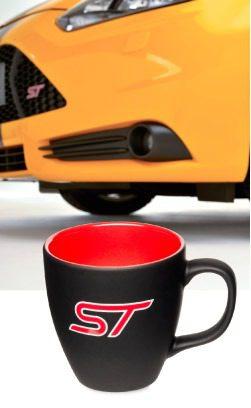 Brilliant wie der Focus ST selbst, die Ford Tasse mit farbiger ST Gravur