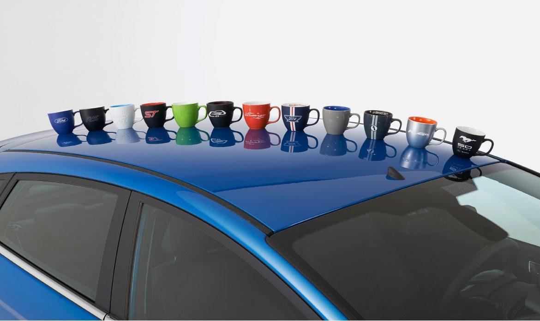 Unsere veredelten Tassen der Ford Merchandising Kollektion