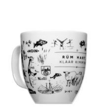 Jumbo cup made of porcelain, printed Sylt