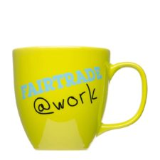 Fairtrade coffee cup with logo - Mahlwerck porcelain