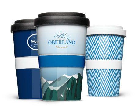 Coffee-to-go Mehrweg Becher aus Porzellan für Bäckereien