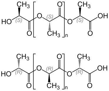Struktur von Polyactat (PLA)