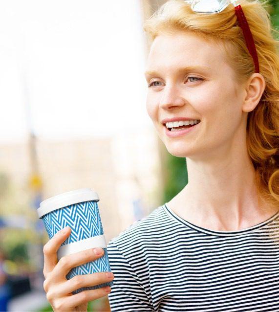 Mehr als moderner Lifestyle! Coffee-to-go unterwegs geniessen mit dem Mehrwegbecher aus Porzellan