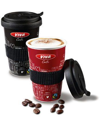OMV Viva Mehrweg Coffee to go aus Porzellan, 2x Coffee2Go Becher von Mahlwerck Porzellan