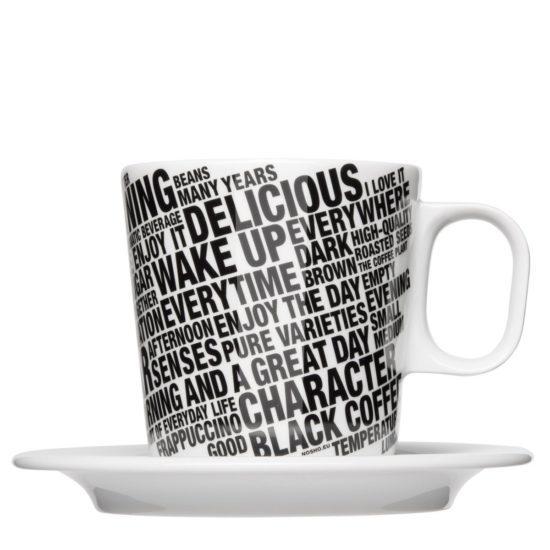 Große Kaffeetasse vollflächig bedruckt - Mahlwerck Porzellan
