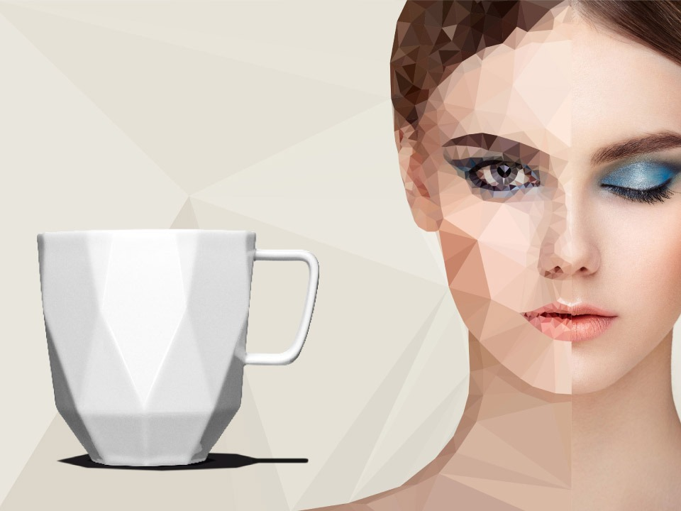 Poly – Die Polygon Tasse aus Porzellan