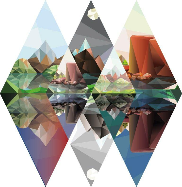 Polygon Landschaft