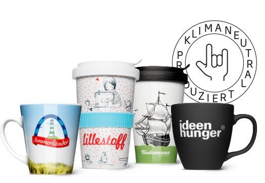 Tassen und Coffee to Go Becher - Klimaneutral produzierte Mehrwegbecher
