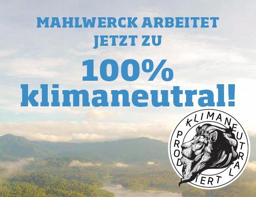 100% klimaneutrale Werbeartikel von Mahlwerck Porzellan