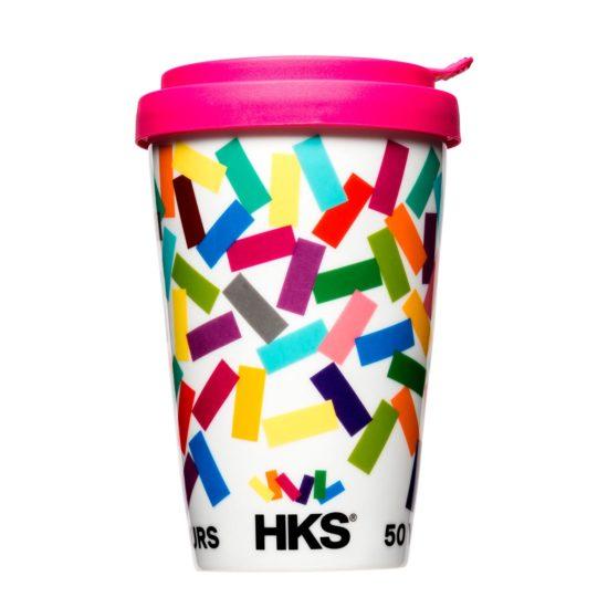 Bedruckter Coffee to Go Becher für HKS Farben - Mahlwerck Porzellan