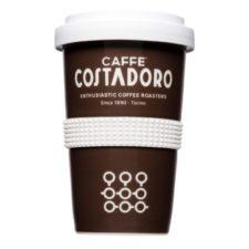 Coffee to Go Becher mit starkem Branding aus Porzellan - Form 345