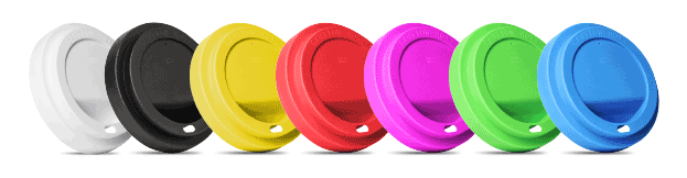 Lid in standard colors for coffee to go